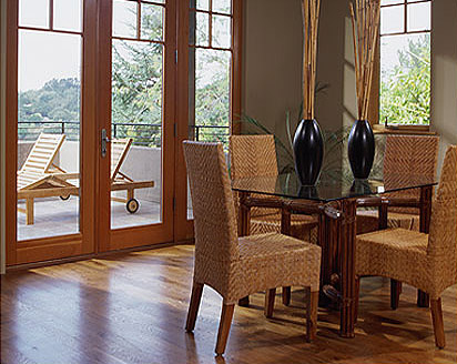 contemporary craftsman dining room