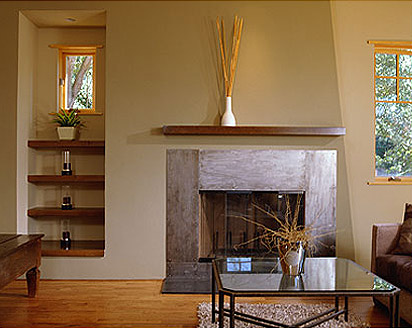 contemporary craftsman living room